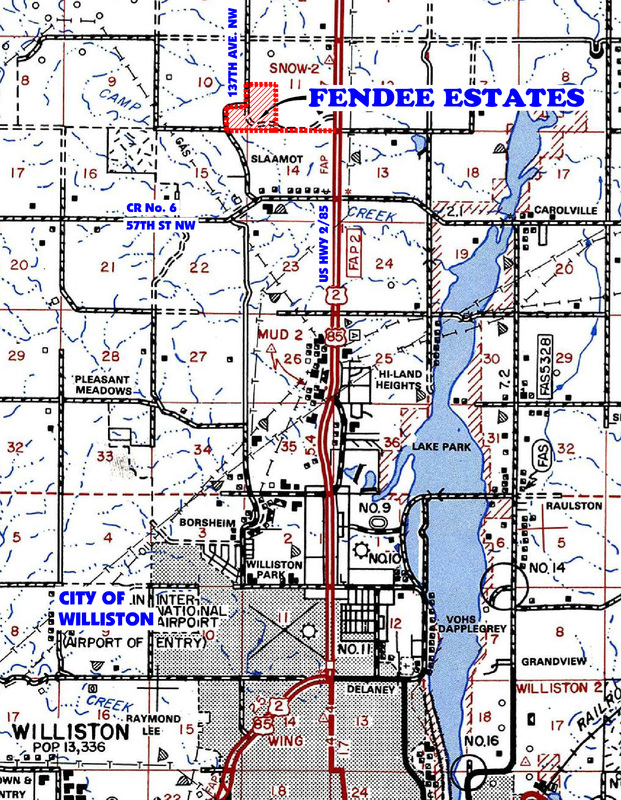Fendee Estates Map